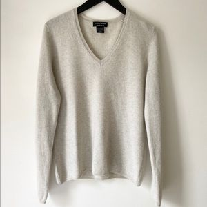 Lord & Taylor Grey Cashmere Sweater